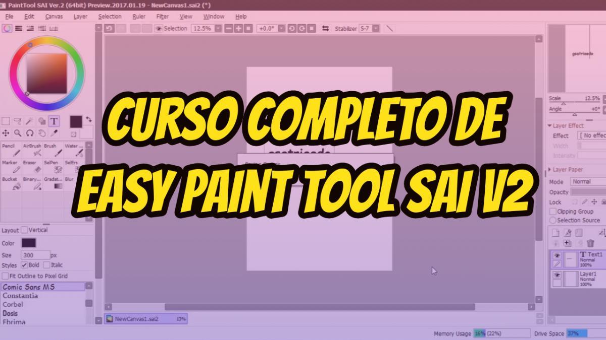 como usar paint tool sai