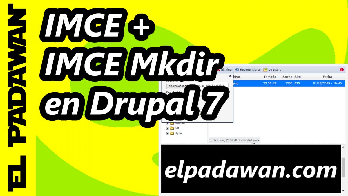 Drupal 7 IMCE Mkdir