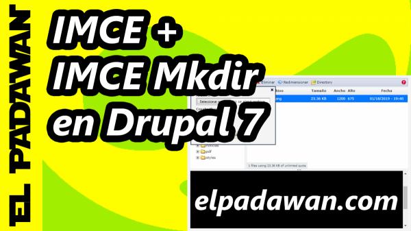 Drupal 7 IMCE + IMCE Mkdir